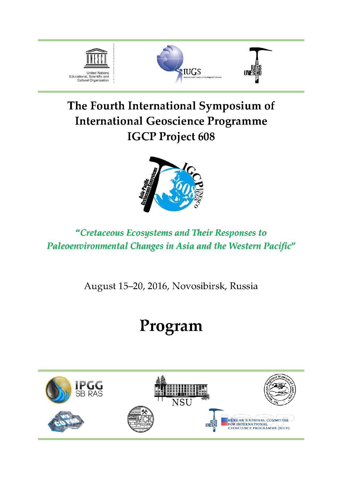 IGCP608 / UNESCO/IUGS International Geoscience Programme